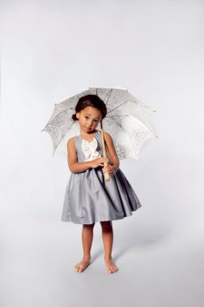 Flower girl dress, by VesperClothier on etsy.com