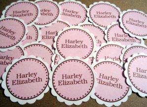 Personalised confetti, by SweetPaperSprinkles on etsy.com