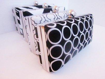 Bridesmaid clutch purses, by VincentVdesigns on etsy.com
