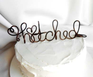 Cake topper, by HomesAndWeddings on etsy.com
