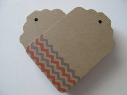 Chevron favour tags, by ModernTypography on etsy.com