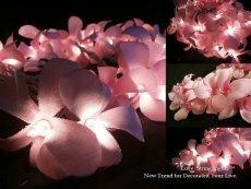 Frangipani flower lights, by LoveStringLights on etsy.com