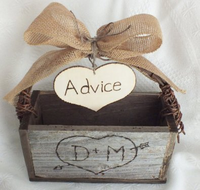 Personalised advice box, by ButterBeanVintage on etsy.com