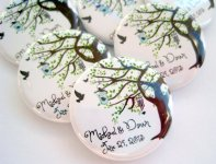 Personalised magnets - great favour idea - by StuckTogetherMagnets on etsy.com