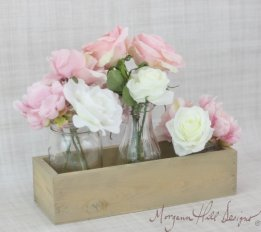 Planter boxes (for centrepieces), by braggingbags on etsy.com