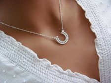 Silver horseshoe necklace, by ACutieChick on etsy.com