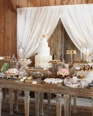 The dessert table at Blake Lively and Ryan Reynolds' wedding reception