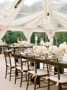 Beautifully decorated marquee
