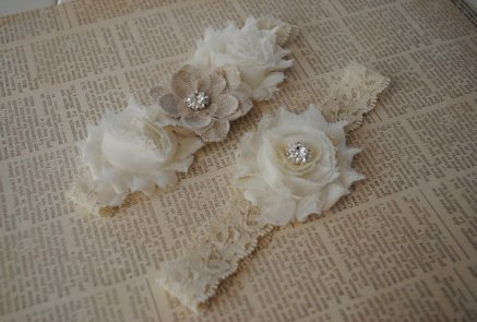 Garters, by lacetossbridal on etsy.com