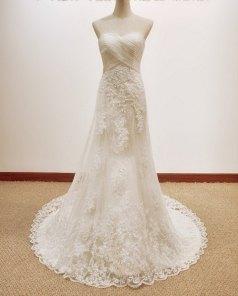 Lace wedding dress, by lassdress on etsy.com