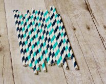Paper straws, by CreateMyFete on etsy.com