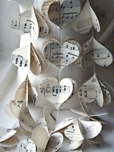 Sheet music decorations