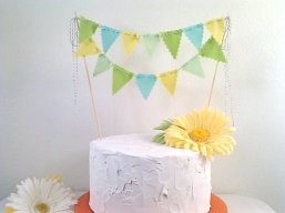 Cake bunting, by BooBahBlue on etsy.com