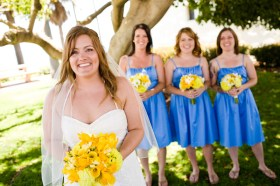 Cornflower blue and yellow colour scheme
