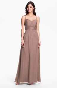 Amsale Ruched Sweetheart Silk Chiffon Gown, from nordstrom.com