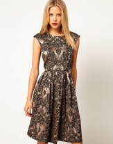 Asos skater dress in Baroque print, from asos.com