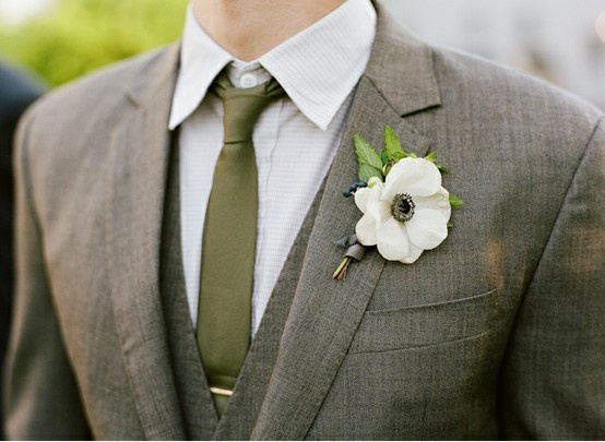 Olive and ivory wedding