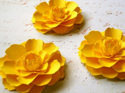 Paper flowers, by DragonflyExpression on etsy.com