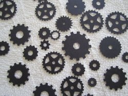 Steampunk confetti, by WhimseyDimples on etsy.com