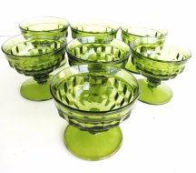 Vintage dessert glassware, by TheRustyScarecrow on etsy.com