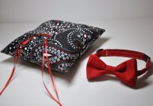 Ringbearer bow-tie and ring pillow set, by MeandMatilda on etsy.com