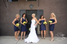 Bridesmaids in navy {via Jessica Frey photography}