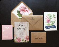 Wedding invitation, by oakandorchid on etsy.com