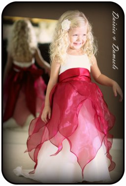 Flower girl dress, by DaisiesandDamsels on etsy.com