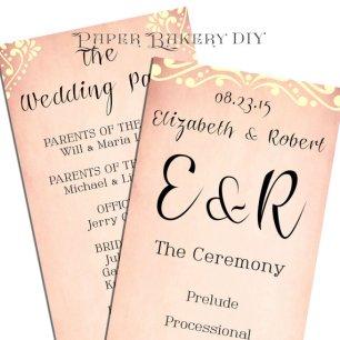 Printable wedding invitation, by PaperBakeryDIY on etsy.com