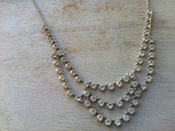 Rhinestone necklace, by lovegrade on etsy.com