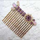 Hair comb, by OhFaro on etsy.com