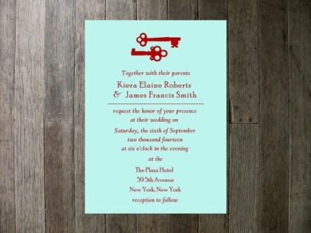Wedding invitation, by PocketSizePress on etsy.com