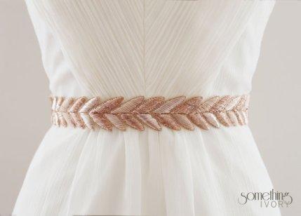 Bridal sash, by SomethingIvory on etsy.com