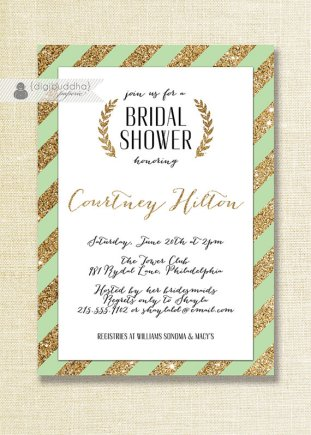 Bridal shower invitation, by digibuddhaPaperie on etsy.com