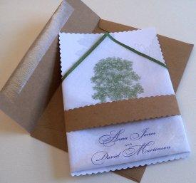 Wedding invitation, by ArtfulBeginnings on etsy.com