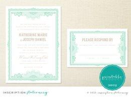 Wedding invitation, by InscriptionSD on etsy.com