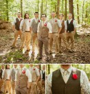 Woodland wedding groomsmen style idea {via greenweddingshoes.com}
