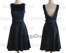 Dark navy bridesmaid dress, by BottegaDresses on etsy.com