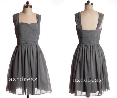 Grey bridesmaid dress, by azhdress on etsy.com