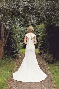 Bow wedding gown, by WillowMoone on etsy.com