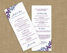 Downloadable ceremony program, by DiyWeddingTemplates on etsy.com