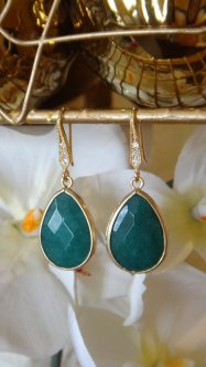 Jade earrings, by VintagePinch on etsy.com