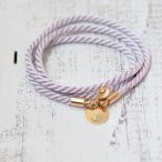 Lavender and gold rope bracelet, by Folirin on etsy.com