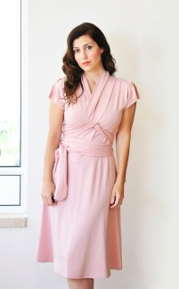 Light pink bridesmaid dress, by Lirola on etsy.com