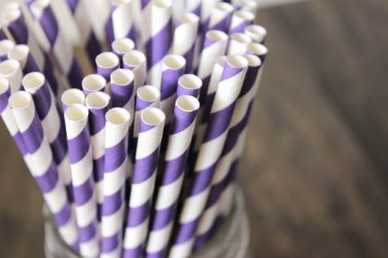 Paper straws, by BoxandBowsupply on etsy.com