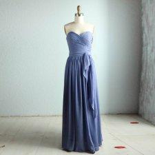 Blue-grey bridesmaid dress - www.etsy.com/shop/RenzRags