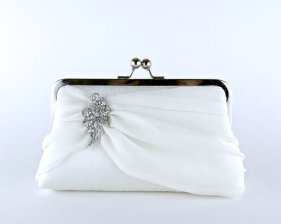 Bridal clutch purse, by EllenVintage on etsy.com