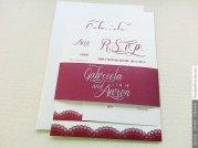 Burgundy wedding invitation, by OnceUponPress on etsy.com