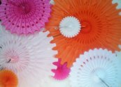 Decorative paper rosettes, by DellaCartaDecor on etsy.com