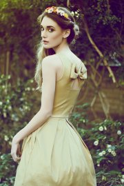 Gold bridesmaid dress - www.etsy.com/shop/FleetCollection